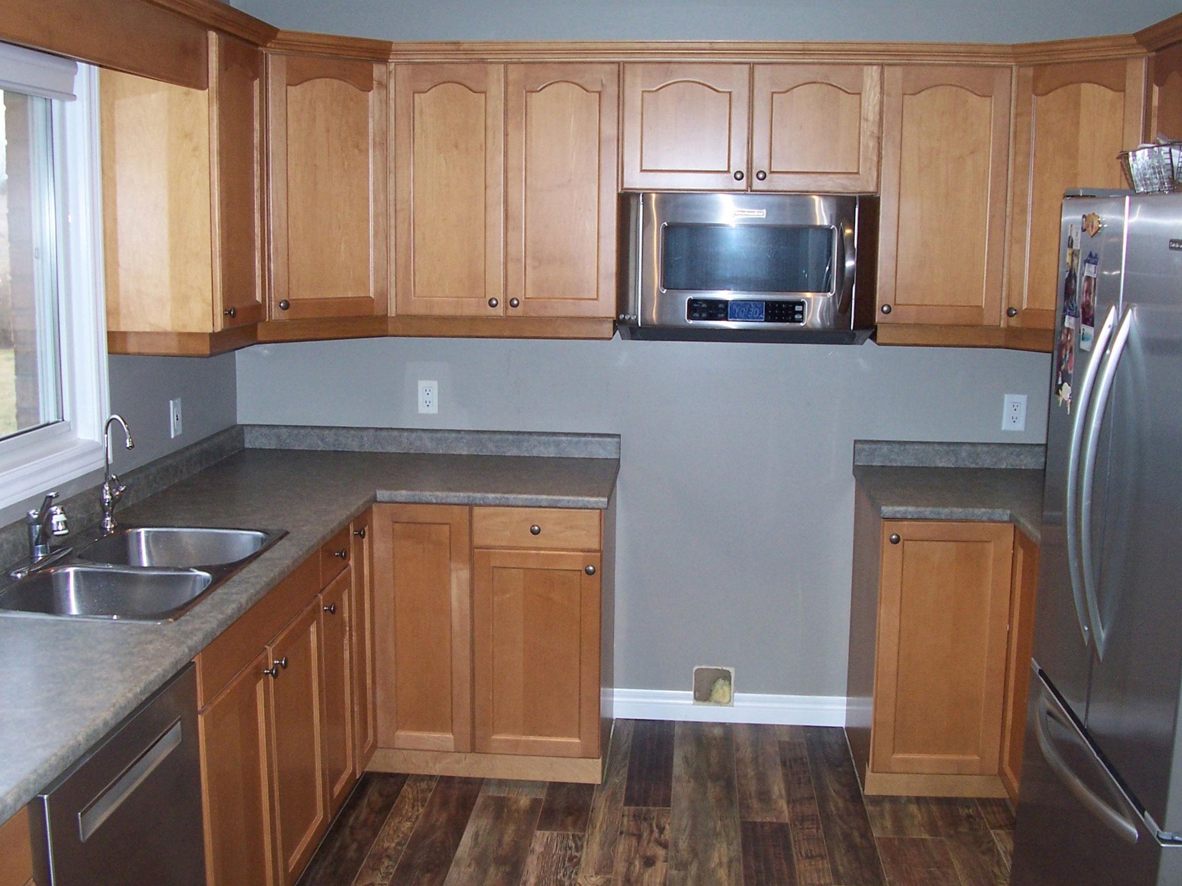 Kitchen Counter Backsplash Before