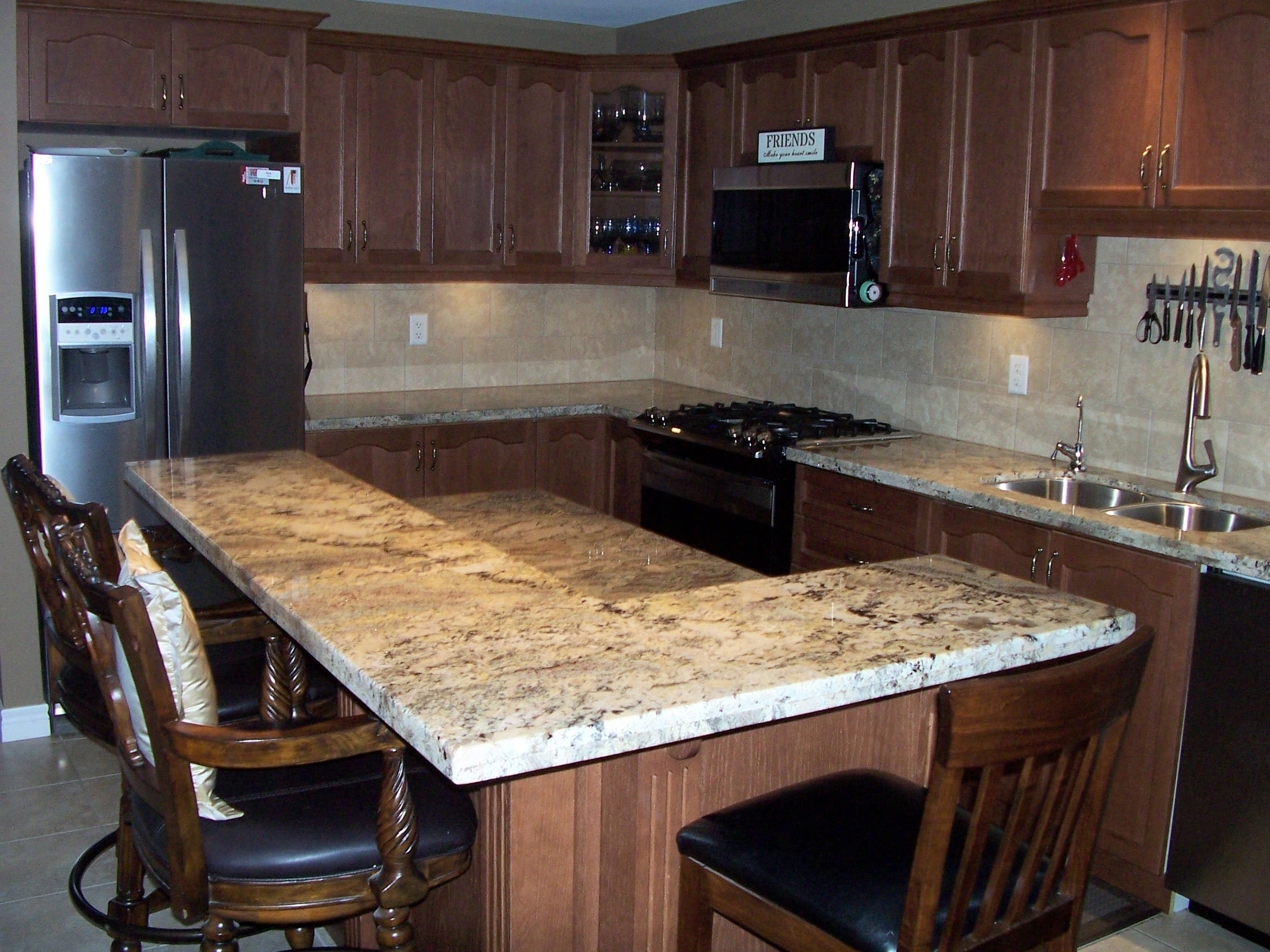 Kitchen Counter Island After