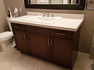 Quartz Bathroom Counter After