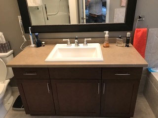 Quartz Bathroom Counter