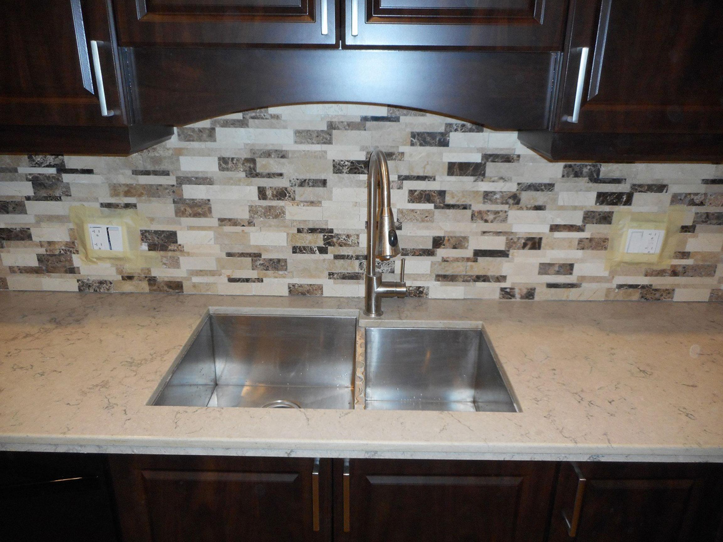 Kitchen Sink View After