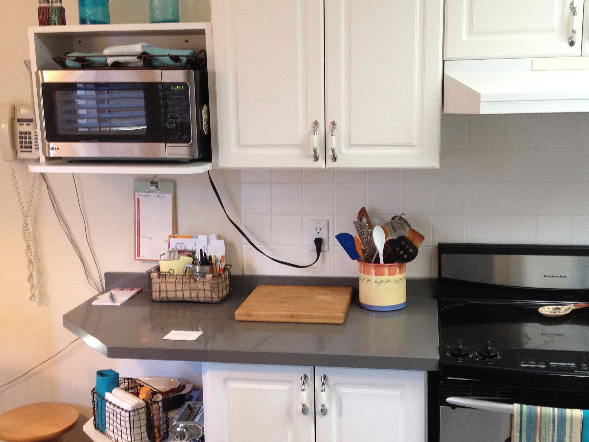 Kitchen Cabinet Reface Microwave Before