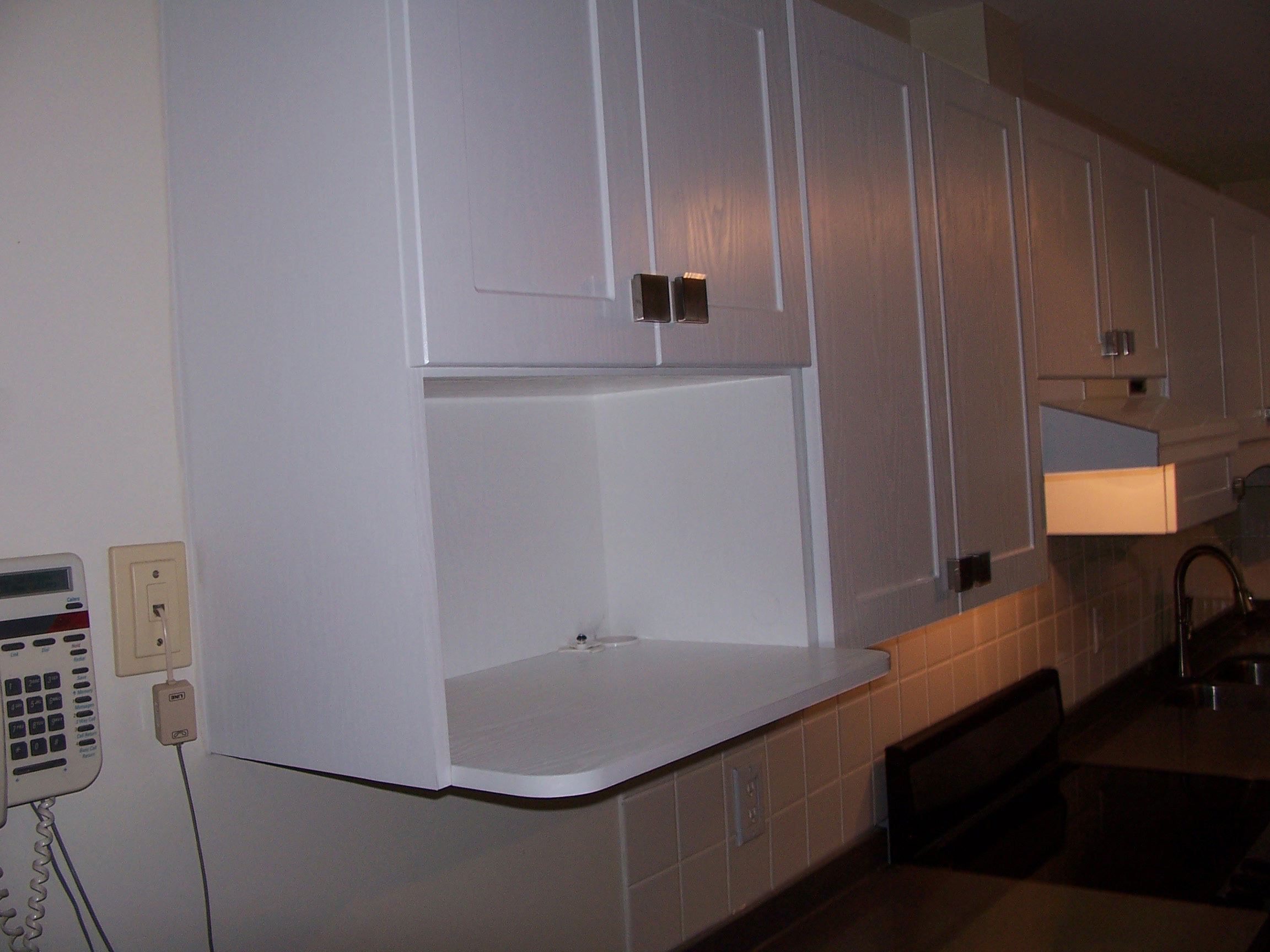 Kitchen Cabinet Reface Microwave After