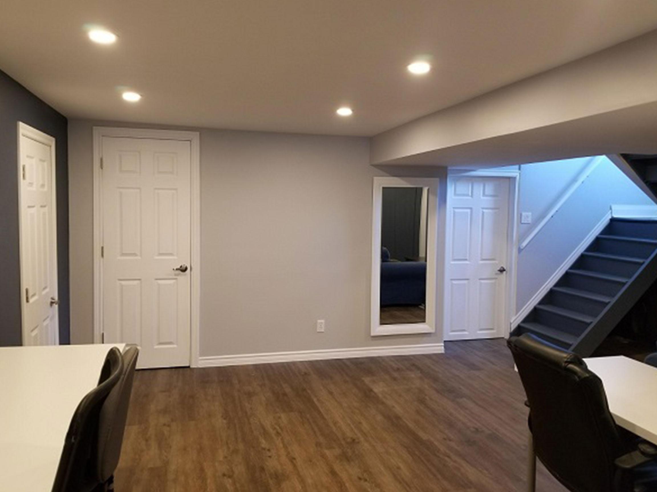 Basement Living Area After