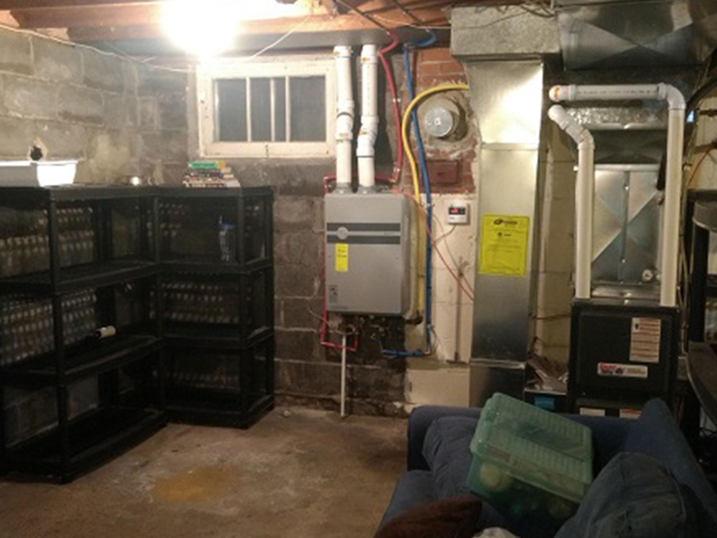 Basement Utilities Before